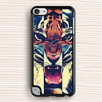 ipod case,tiger ipod 4 case,tiger ipod 5 case,tiger touch 4 case,touch 5 case,cool tiger ipod touch 4 case,art tiger ipod touch 5 case