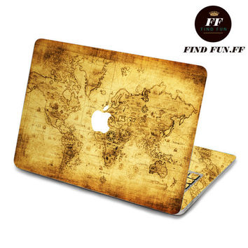 back cover decal mac pro decals stickers sticker Apple Mac laptop vinyl 3M surprise gift for her him beautiful 地图1-071