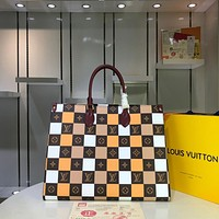 LV Louis Vuitton WOMEN'S MONOGRAM CANVAS Patchwork Onthego HANDBAG TOTE BAG
