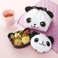 CuteZCute Kids 1.6-Cup Bento Lunch Box with Cloth Bag, 12.5-Ounce