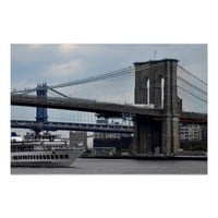 Brooklyn Bridge Poster New York City Manhattan