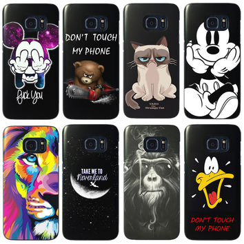 For Samsung Galaxy S7 Cute Cartoon Painted Mobile Phone Case Hard Back Protective Coque Capa Fundas For Galaxy S7 Edge Cover