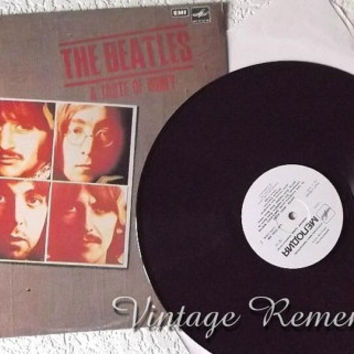 The Beatles Vintage Soviet Vinyl Record A Taste of Honey Retro Music Album Songs 1960's rock-n-roll beat band Collectible made in USSR 1980s