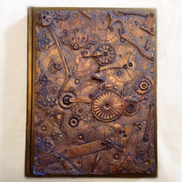 Display item Large sketch book One of a kind steampunk art