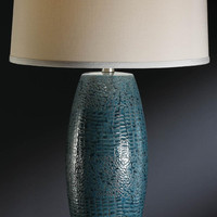 Crestview Melrose Blue Table Lamp - CVAP1348