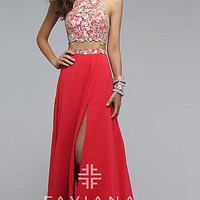Two Piece Long Prom Dress by Faviana