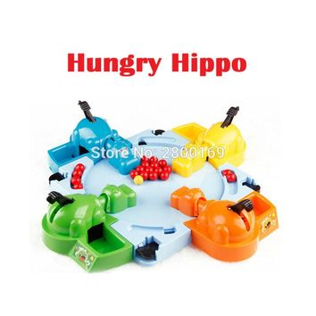 Parent-child Interaction Toys Classic Board Game Feeding Hippo Swallow Beads Table Game Marble Swallowing Hippos Educational Toy