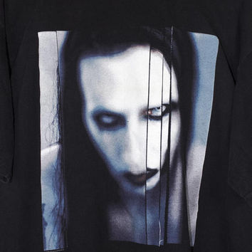 MARILYN MANSON long hard road out of hell shirt - vintage 90s  - winterland
