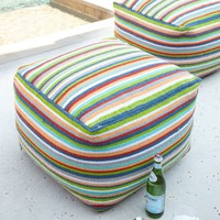Stripe Pouf Outdoor Seating