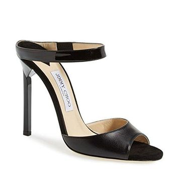 Jimmy Choo Womens Deckle Sandal Black 10