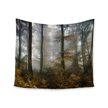 "Iris Lehnhardt ""Forest Mystics"" Brown Gray Wall Tapestry"