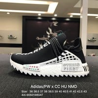 Pharrell Williams X Adidas Pw CC Hu Human Race Nmd Black White Boost Sport Running Shoes - D97921