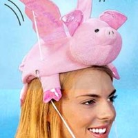 Flying Pig Hat - With Flapping Wings - BaronBob.com