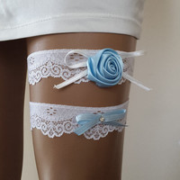 toss garters,ivory, turquoise,   lace,    wedding garters,    bridal accessories,   garter suspander,    free shipping! something blue