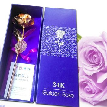 24k Golden Rose Valentine's Day present Lover's Flower Creative Mother's Day /Valentine's Day /Birthday / Wedding Gift