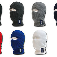 Tactical Design 1 Hole Face Ski Mask-Black OD Navy Red Gray White Etc- Decky 971