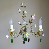 French antique sublime chandelier colors by myfrenchycottage