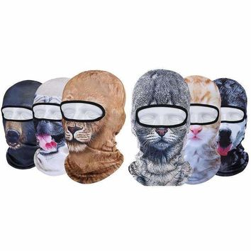 Winter cat Hat Motorcycle Cs Ski Mask Cap Veil Balaclava 3D Animal Sport Face Masks skullies beanies board snowboard funny hats