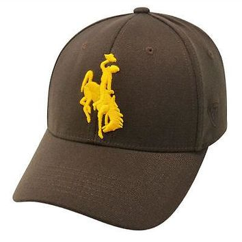 Licensed Wyoming Cowboys Official NCAA One Fit Wool Hat Cap by Top Of The World 253855 KO_19_1