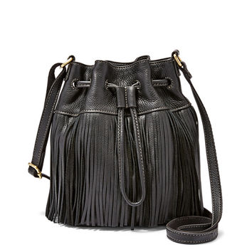 Jules Mini Fringe Drawstring Satchel