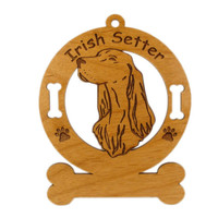 3372 Irish Setter Head Ornament Personalized with Your Dog's Name