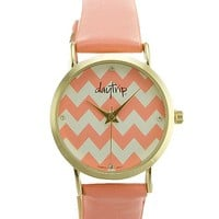 Women's Chevron Dial Watch