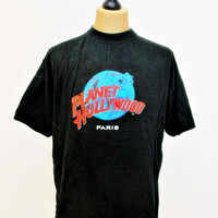 1990s Vintage T-Shirt XL Planet Hollywood Indie Hipster