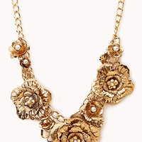 FOREVER 21 Heirloom Floral Bib Gold One