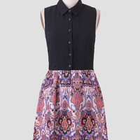 Foreign Travels Printed Dress