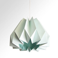 Pumpkin / Origami Paper Lamp Shade -Mint Green