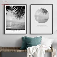 Beach Landscape Poster Canvas Painting Picture Nordic Wall Pictures Poster Print Decorative Pictures Wall Painting Wall Art BW03