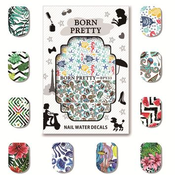 5 Sheets BORN PRETTY Floral Spring Summer Theme Nail Art Water Decals Manicure Nail Transfer Sticker BPY31-35