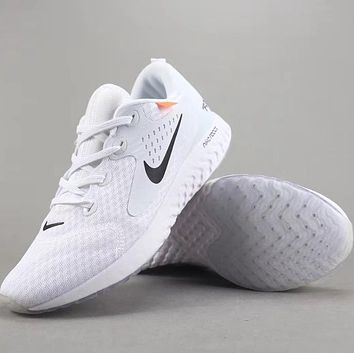 Trendsetter Off White X Nike Epic React Flyknit   Women Men Fashion Casual Sneakers Sport Shoes