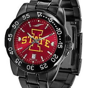 Iowa State Cyclones Mens Watch Fantom Gunmetal Finish Red Dial