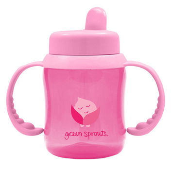 Green Sprouts Sippy Cup - Flip Top Pink - 1 Ct