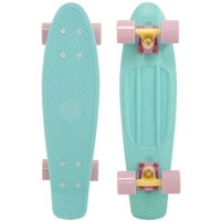 "Penny 22"" Pastels Blue/Lilac-Yellow/Lilac Mini Longboard Complete"