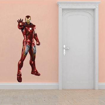 Ironman Decal - Avengers Wall Decal Printed and Die-Cut Vinyl Apply in any Flat Surface- Iron man Wall Decal Sticker