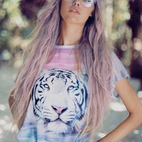 Wildfox Couture Tiger Island Breezie Tee in Multi