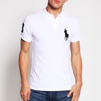 Polo Ralph Lauren Polo Shirt - White - Beauty Ticks