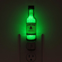 Jameson Irish Whiskey 50ml LED Night Light Lamp Bar Man Cave Crystal Glass Coating