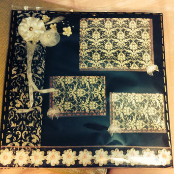 Premade scrapbook page. Vintage inspired for wedding anniversary  or  special occasion