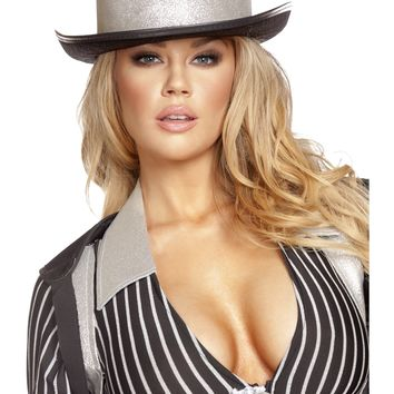 Roma RM-GH106 Gangster Hat with Silver Trim