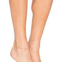 Five and Two x REVOLVE Willa Anklet in Gold