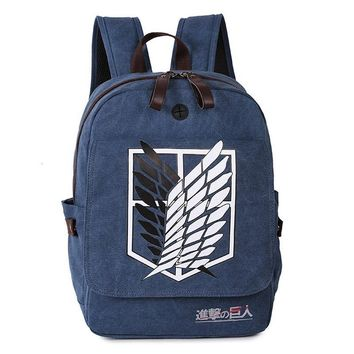 Cool Attack on Titan  no  One Piece Naruto Backpack Large Shoulder Bag Rucksack Canvas Backpacks Mochila Daypacks AT_90_11