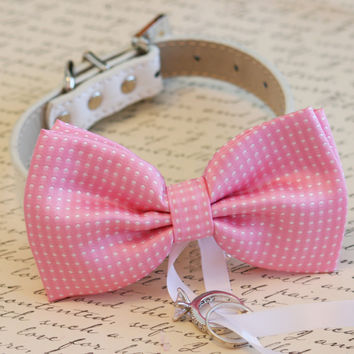 Pink Dog Bow Tie, Dog ring bearer, Pet Wedding accessory