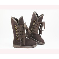 UGG Gao Tong snow boots ordinary color series  Dark coffee