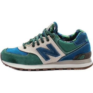 NEW BALANCE ML574OHT 'BOTANICAL GARDEN' - Green/Green Glow