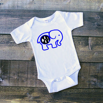 SALE Elephant clothing, elephant design, monogram clothing, newborn, design elephant, elephant bodysuit, cute elephant clothing, animals