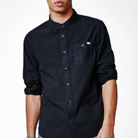 Reef Sunned Out Long Sleeve Button Up Shirt - Mens Shirts - Black