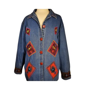 Women's Jean Jacket, Denim Jacket, Embroidered Jean Jacket, Jean Jacket Patch, Hippie